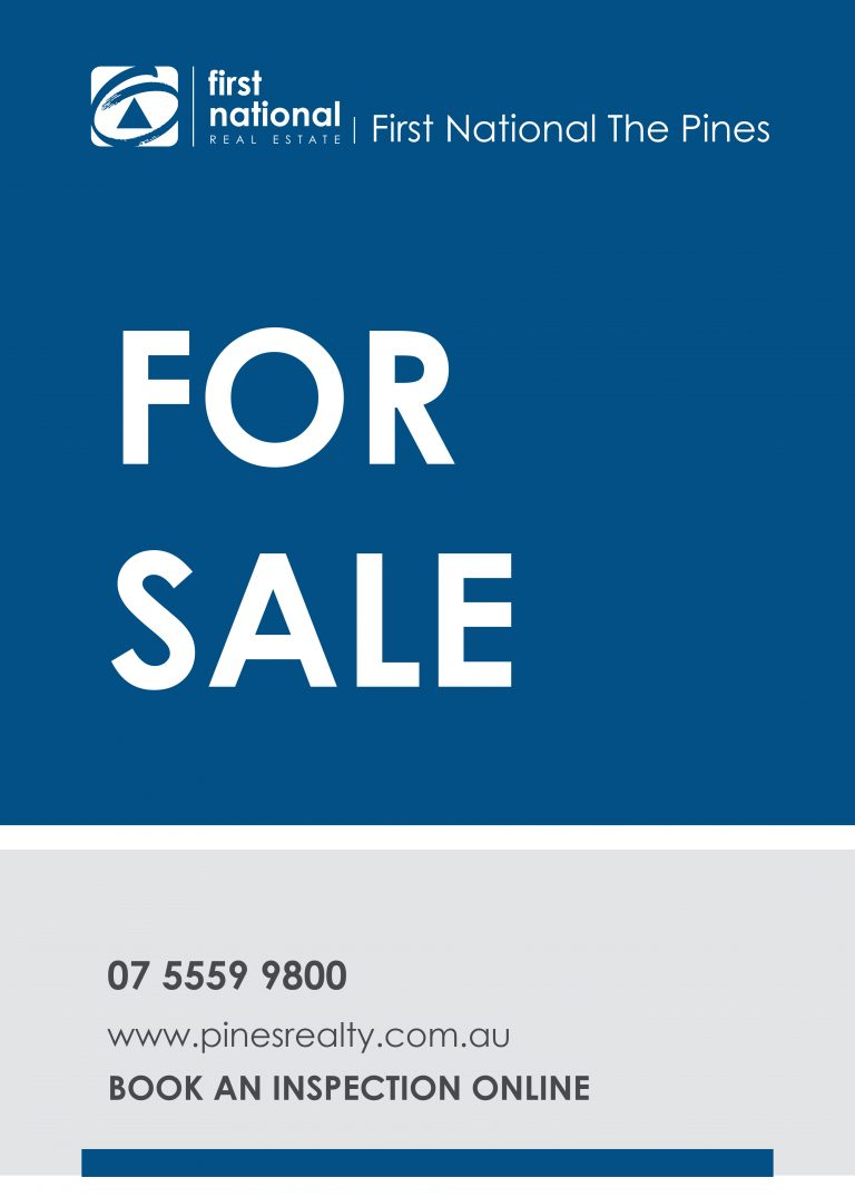 First National for sale sign
