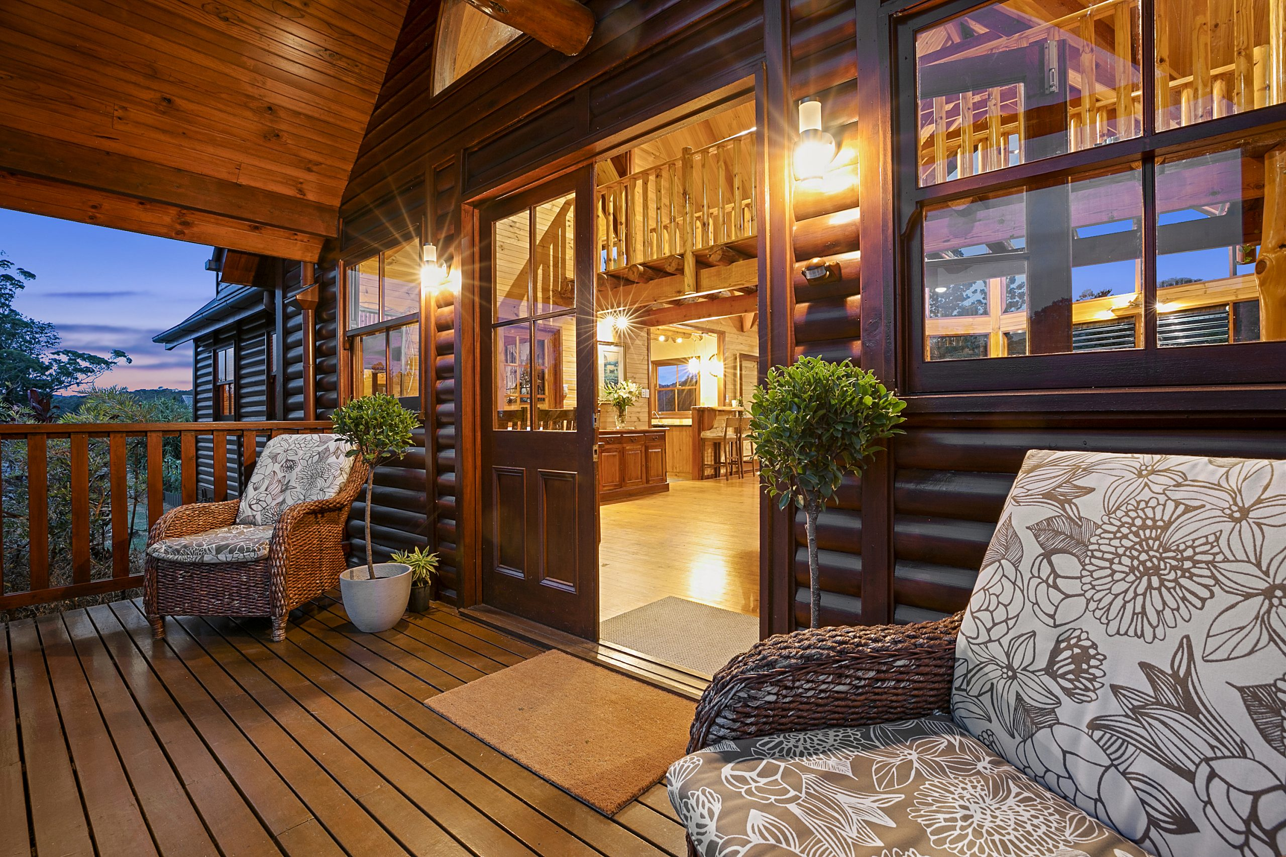 deck into home